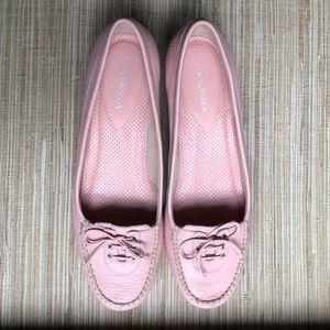 Via Spiga Rose Pink Wedge Loafers